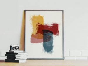 Layers - abstracte poster en canvas print